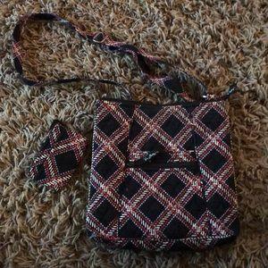 Vera Bradley  cross body purse & small coin purse